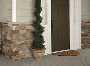 Mortar-Free Stone Fa�ades - easy-to-install real stone veneers, no mortar required