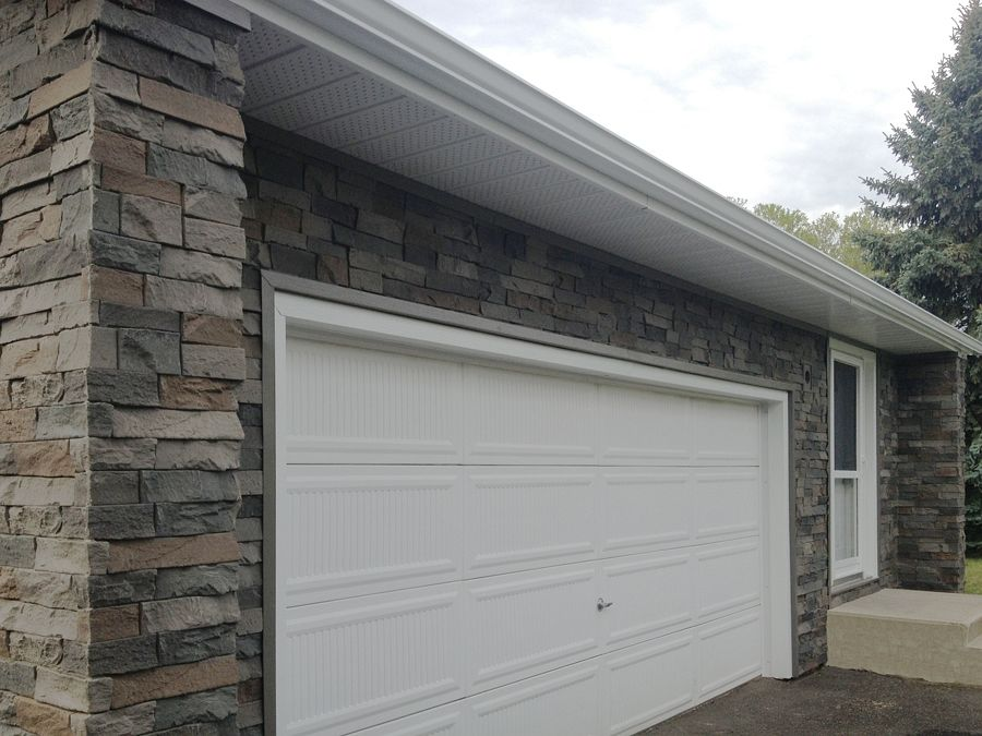 Garage Doors Winnipeg >> Interlocking Faux Stone Panels - Superior Seamless - Install, Estimates, Sales, Delivery in ...